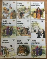 Lot 9 Vintage LION STORY BOOKS Christian Bible Stories Jesus HB Hardcover