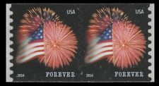 US 4853 Star-Spangled Banner forever coil pair CCL (2 stamps) MNH 2014