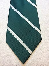 Vintage Resilio Mens Tie 4 X 57 Green With White Stripes
