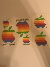 Vintage Apple Computer RAINBOW Logo Decal Sticker collection NEW old stock
