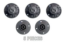 5 Pack 4 Pin Female Speakon Round Chassis Mount Connector Coupler Pro Audio