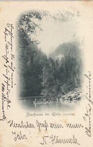Stauffensee bei Gütle (Dornbirn), Vorarlberg glum 1900? F9523