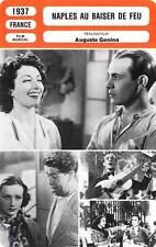 FICHE CINEMA : NAPLES AU BAISER DE FEU - Rossi,Simon,Balin 1937 The Kiss of Fire