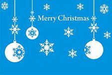 Bolas y Copos De Nieve Christmas Adhesivo Ventana Pegatina Pared Arte Grande