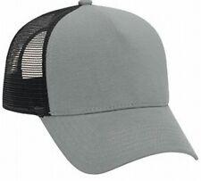 Gray Black flannel front Mesh low profile hat Cap Mesh Trucker Hat Justin Bieber
