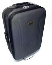 Koffer Trolley Reisekoffer Schwarz Violett MITTEL 61 x 41 x 21,5 cm NEU