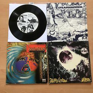 Krautrock Vinyl Sammlung 4 LPs   Brainticket, Steamhammer,Tangerine Dream, 7 70
