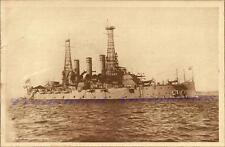 1911 US Navy USS Rhode Island BB-17 Battleship Starboard Brds Photogravure Print