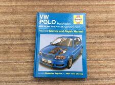 HAYNES MANUAL VW POLO HATCHBACK (6N2) 2000-02 (V-51 REG) 1.0 & 1.4LITRE PETROL