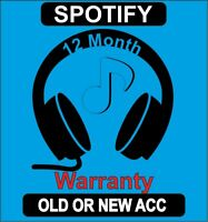 Spotify 12 MONTH FAST DELIVERY - OFFERT LIMIT - 24/7 FAST DELIVERY