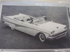 1958 FORD CONVERTIBLE  11 X 17  PHOTO /  PICTURE