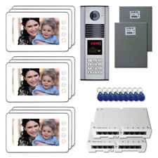 """Office Door Access Security Video Intercom System Kit with (9) 7"""" Color Monitors"""