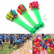 3 Packs Children Kids Bunch 111 Balloons Summer Outdoor Party Fun Water Bombs