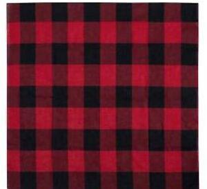 Halstuch Bandana Red Plaid Rot kariert Flannelhemd Holzfäller Stil Rockabilly