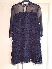 BNWT ZARA BLACK FRNGED DRESS SIZE LARGE