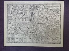 SOMERSET County Map in 1610 by John Speed  - Uncoloured