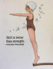Mary Engelbreit Artwork-Skill Is Better-Handmade Fridge Magnet