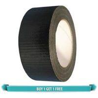 BUY 1 GET 1 FREE BLACK GAFFA GAFFER DUCT TAPE 50mm x 25m ADHESIVE WATERPROOF