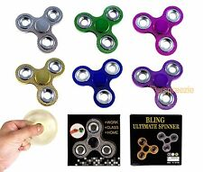 Fidget Spinner Hand Spinner Toy Anxiety Stress Relief Focus EDC Metallic BLING