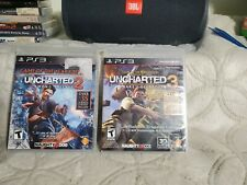 Lot of 2 PS3 Games Uncharted 2 & 3 Sony PlayStation 3