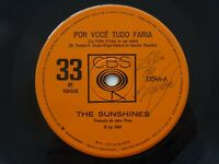 The Sunshines 45 Obscure Brazil Fuzz Freakbeat Mod 1968 CBS Por você tudo faria