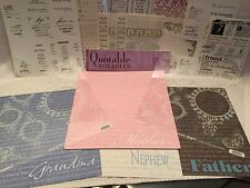 LOT Heritage Scrapbooking Papers Stickers UNIQUE Set Mother Father Grandma Neph
