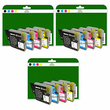 12 Cartuchos de tinta para Brother DCP-J125 J140W J315W J515W No OEM LC985