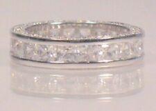 2.60 Ct Princess cut Diamond Eternity Band Wedding Ring White Gold ov