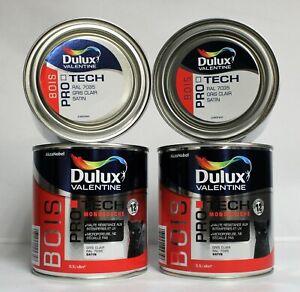 """Lot Peinture Bois DULUX VALENTINE """"Gris Clair RAL 7035"""" 4 X 0,5 L"""