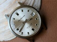 Vintage Paul Raynard Watch w/Mint Dial,Patina,Divers All SS Case,Baylor PUW 1461