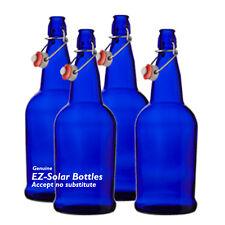 Blue Solar Water Bottles, Cobalt Blue Glass, 1 liter, NEW ( 4 PACK )