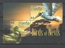 Nevis 2010 oiseaux bloc feuillet de 2 timbres neuf ** 1er choix