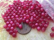 Vintage 5mm Raspberry Moonglow Lucite No Hole Beads 50