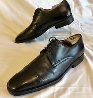 Mezlan Men's Palmas Oxford Cap Toe Leather Shoe Handmade in Spain Brown 10.5 D