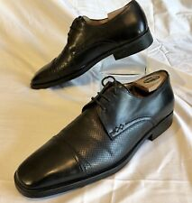 Mezlan Men's Palmas Oxford Cap Toe Leather Shoe Handmade in Spain Brown 10.5 D