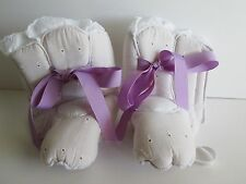Custom Made ADULT COSTUME BABY BOOTIE Shoe COVERS White Eyelet