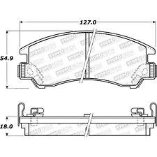 Disc Brake Pad Set-Street Brake Pads STOPTECH 308.03110 fits 85-89 Subaru GL