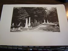 SCENE IN DUNMORE CEMETERY - DUNMORE PA  - 9.25  BY 6.25 INCHES- 1894 PRINT