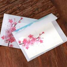 10pcs Vintage Peach Blossom Sulfuric Acid Paper Envelope Translucent Letter Bag