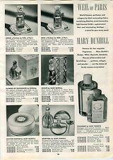 1947 PAPER AD Weil Of Paris Perfume Grigri Noir Oeillet Bleu Fleurs D'Amour