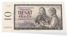 Czech Republic 10 Korun Year 1960 Banknote P-88 L Block Gem UNC