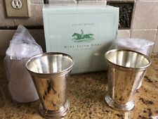 Mint Julep Cups - Set of 4 - Two's Company - New in Box with Recipe