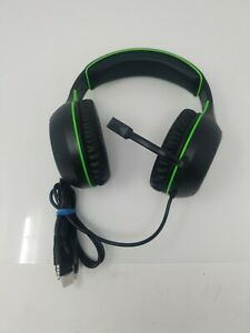 Phenom EXP10 XBOX gaming headset BOOM MIC ON OVER EAR 3.5MM CABLE Green LED