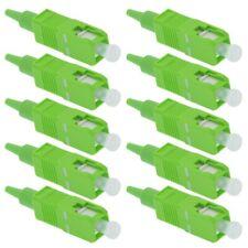 10x SC APC Fiber Optic Single Mode Simplex Optical Connector Adapter 0.9mm Green