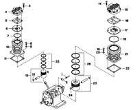 Ingersoll Rand Model 2340 Piston BareAssembly,HP Piston-32496606 refer#12 in pic