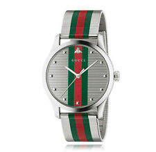 New Gucci  G-Timeless Stainless Steel Mesh Bracelet Men's Watch YA126284