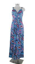 Heine Maxikleid 38 (D) Trägerkleid bunt 95% Viskose Kleid dress neu ohne Etikett