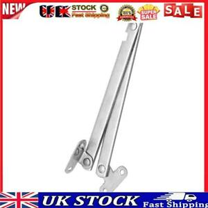2pcs Left Right Folding Drop Front Desk Trunk Lid Support Stays Hinges (A)