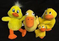 Rubber Duckie Ducky Duck 4 Small Yellow Bean Bag Plush Lot Sesame Street Easter