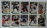 1993-94 Upper Deck UD Series 1 Dallas Stars Team Set of 10 Hockey Cards